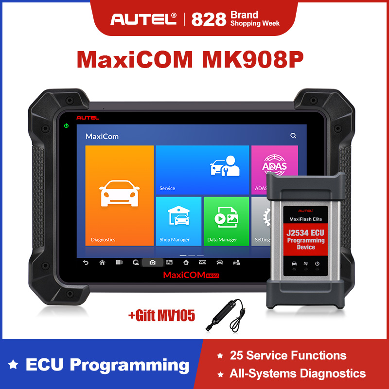 Autel MaxiCOM MK908P Car Diagnostic Tool Professional Auto Scanner All System Automotive Diagnosis Scan Tools Update of MS908P