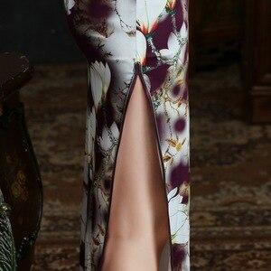 Image 5 - 2019 verkauf Echt Frühjahr/sommer Outfit Täglichen Verbesserte Lange Cheongsam, Die Alte Weisen Von Kultivieren Moral Seide Kleid Qipao