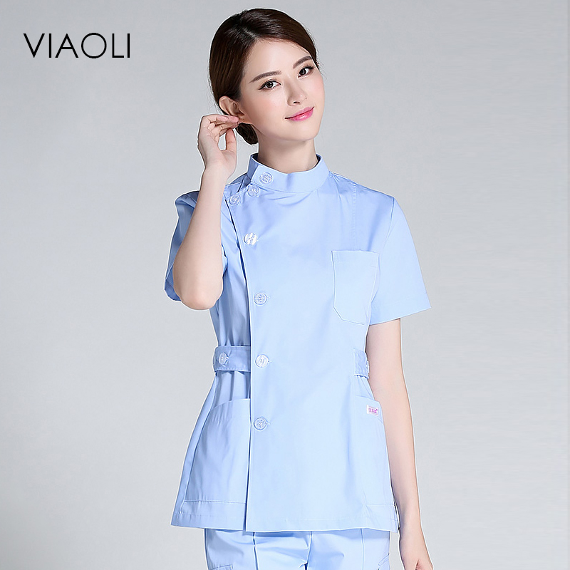 VIAOLI Nurse Suit Split Suit Male And Female Doctors Wear ICU Dental Oral Summer Surgery Surgical Wash Clothes