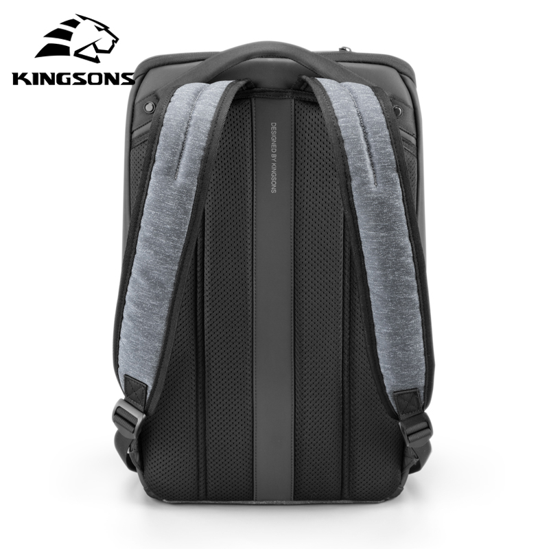 Image 2 - Kingsons Multifunction Men 15 inch Laptop Backpacks  Fashion Waterproof Travel Backpack Anti thief male Mochila school bags hot-in Backpacks from Luggage & Bags