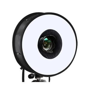 Image 2 - 45 centimetri Anello Softbox Speedlight Rotondo di Stile Flash di Luce Sparare Soft box Pieghevole Morbida Flash Diffusore di Luce Per DSLR Canon nikon