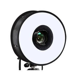 Image 2 - 45cm טבעת Softbox מבזק עגול סגנון פלאש אור לירות רך תיבה מתקפל רכה פלאש אור מפזר עבור DSLR Canon ניקון
