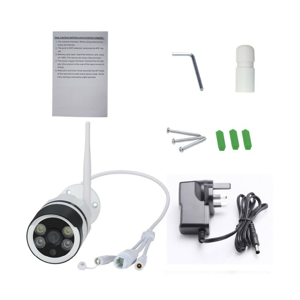 New WIFI Wireless IP Camera 1080P HD Network Wireless WIFI IP Camera 1080P HD Network Cam CCTV In/Outdoor Security IR Nigh