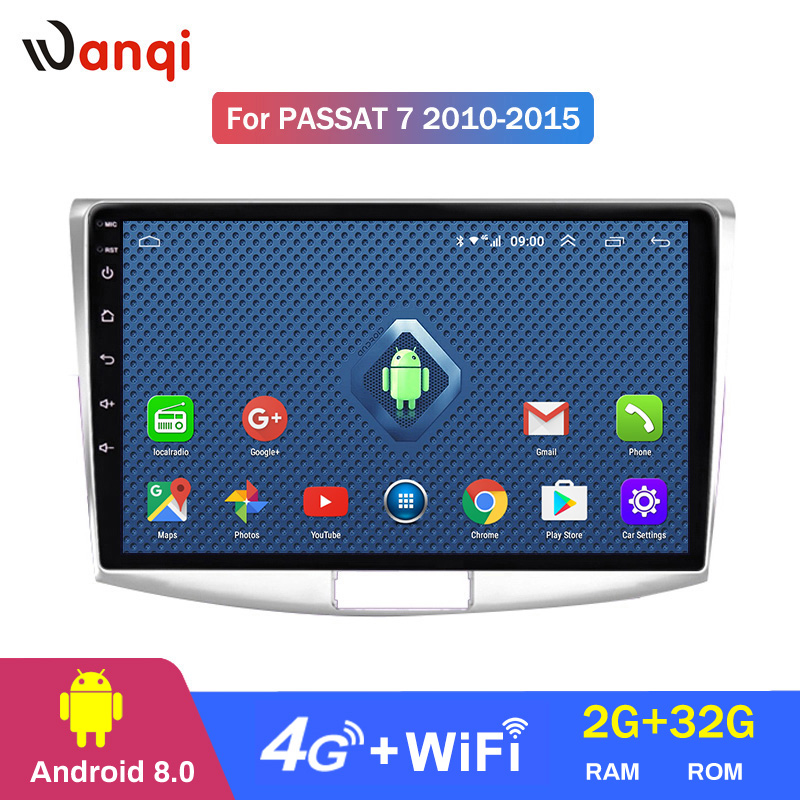 <font><b>Android</b></font> 8.0 2+32G 4G 3G WIFI netcom 2.5D <font><b>10</b></font> <font><b>inch</b></font> For Volkswagen passat <font><b>7</b></font> B7 2010-2015 car dvd <font><b>gps</b></font> radio video player support SWC image