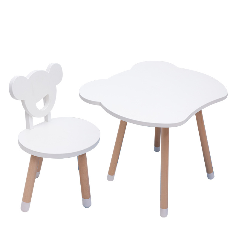 Solid Wood Children Table And Chairs Set Writing Games Learning Study Desk Kids Wood Furniture Dining Table Set Baby Furniture