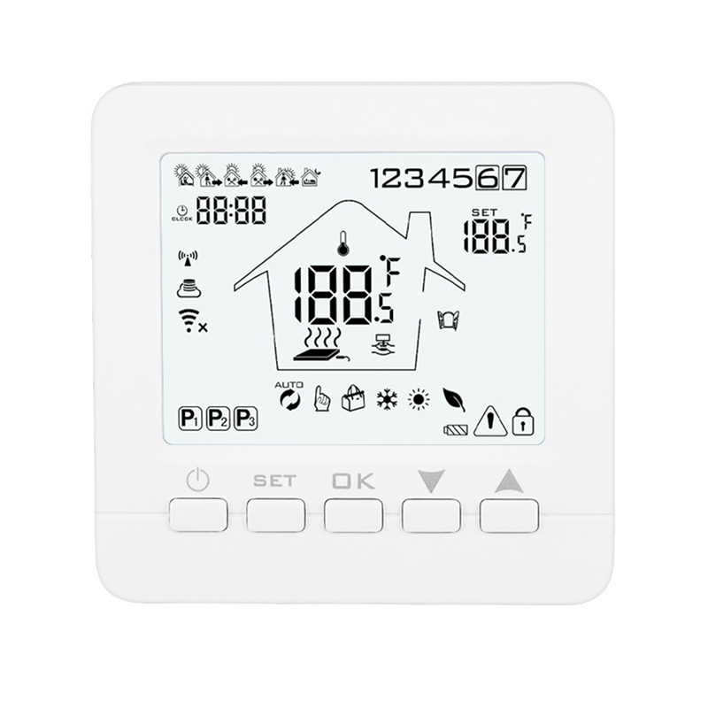 HHO-16A08-5BB-WIFI Intelligent Thermostat Electric Heating Wireless Thermostat