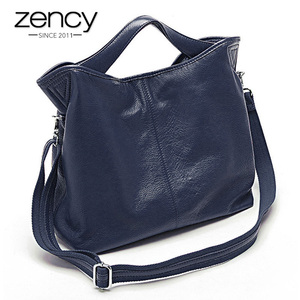 Image 5 - Zency Wholesale Fashion Women Handbag 100% Genuine Leather Ladies Casual Tote Bag Charm Shoulder Messenger Classic Satchel Purse