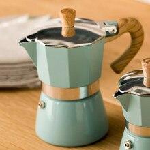 Estilo europeu de alumínio cafeteira durável moka expresso percolador pote prático moka cafeteira 150/300ml