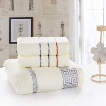 2PCS 100% Cotton Embroidered Towel Sets Towels for Adults Luxury Brand High Quality Soft Face 33x75cm+70x140cm