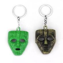 Punk Jim Carrey keychain Movie The Mask Keychains Keyring Fancy Dress Loki Halloween key chains Pendant Funny Car Chaveiro the mask jim carrey movie film toys figure green alien mask