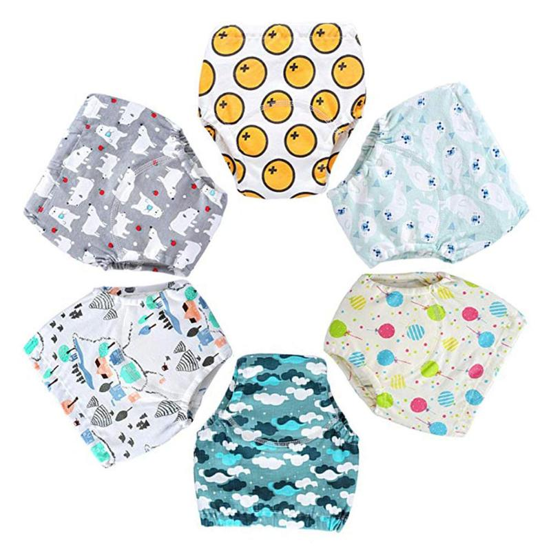 Inserts Baby Training Pants Simplicity Comfortable Cartoon Printing Splicing Cotton Nappy Diaper Cover Wrap Nappy Changing