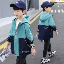 Boys Jackets Kids Fashion Fall Coats Clothing Letter Print Childrens Thin Children