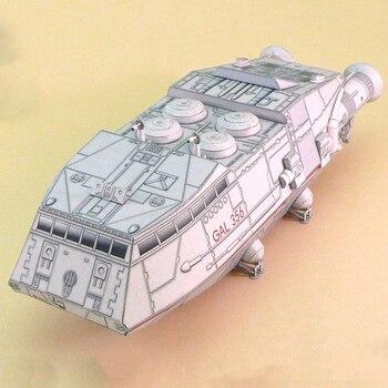 1:120 Scale Battlestar Galactica Colonial Shuttle DIY Handcraft Paper Model Kit 1