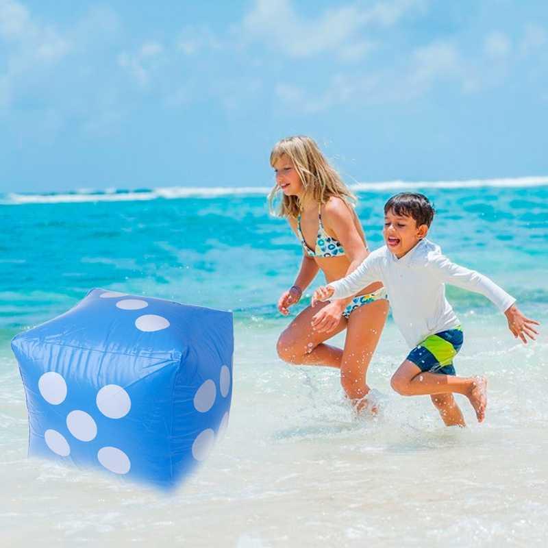 30*30cm Opblaasbare Props Speelgoed Dobbelstenen Grappig Outdoor Sport Speelgoed Voor Kinderen Volwassen Zwemmen Zwembad Strand Water Park party Kids Game