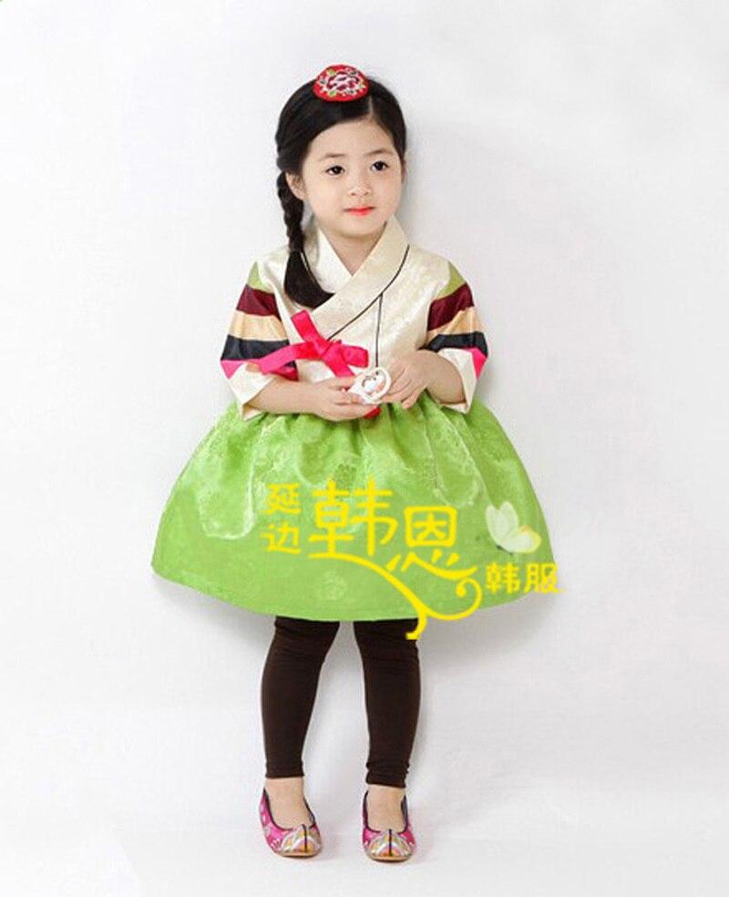 Fille/enfant coréen Hanbok robe Costume danse ethnique traditionnel à manches longues Cosplay sur mesure maman et fille robe