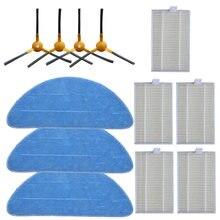 Peças de reposição filtro + escova lateral pano mop para abir x6 x5 x8 robô aspirador pó acessórios domésticos peças limpeza