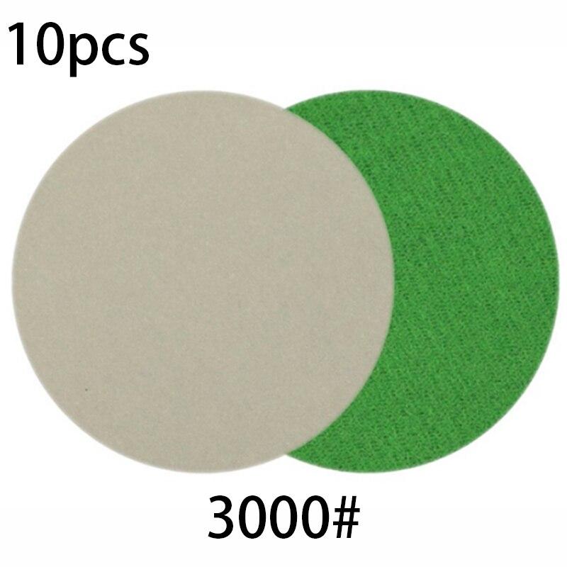 10pcs 3-inch 3000 Grit Wet/Dry Sanding Discs Pads 75mm Sandpaper Polishing Water Polishing Sander Grinding Accessories New