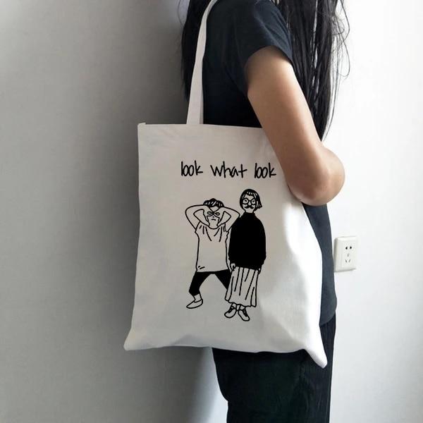 2019 Ladies Handbags Cloth Canvas Tote Bag Casual Shopping Travel Women Eco Reusable Shoulder Shopper Bags Bolsas De Tela