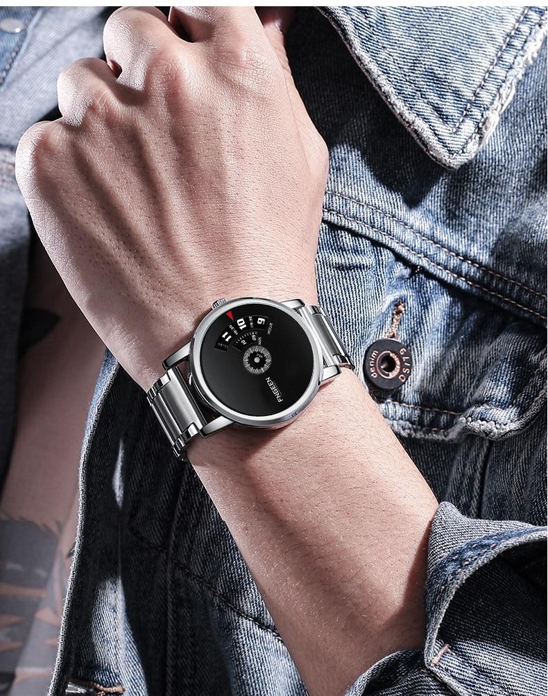 relógios de quartzo masculino à prova dwaterproof