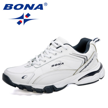 BONA 2020 New Arrival Running Shoes Men Outdoor Sports Footwear Action Leather Sneakers Man Nonslip Walking Flats Trendy - discount item  34% OFF Sneakers
