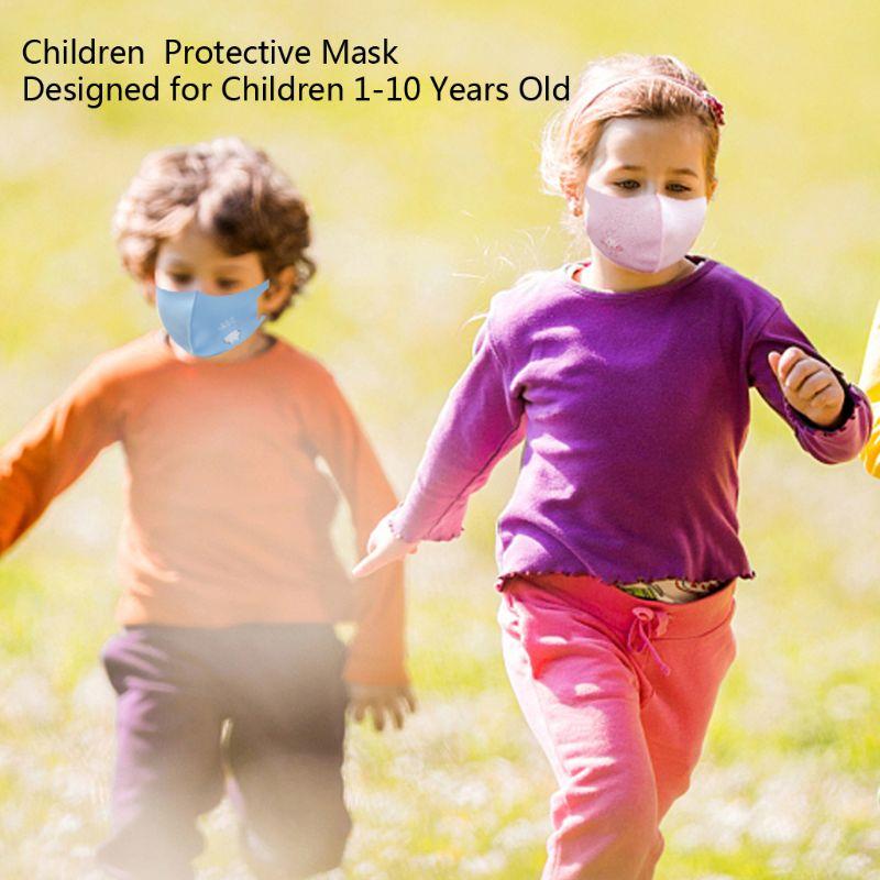 10Pcs PM2.5 Kid Reusable Anti Flu Face Mask Breathable Washable Sponge Dustproor Mouth Mask Random Pattern for Children 2