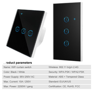 Image 2 - スマートホーム無線 lan 電気タッチブラインドカーテンスイッチ ewelink アプリ alexa による音声制御エコー機械制限ブラインドモーター