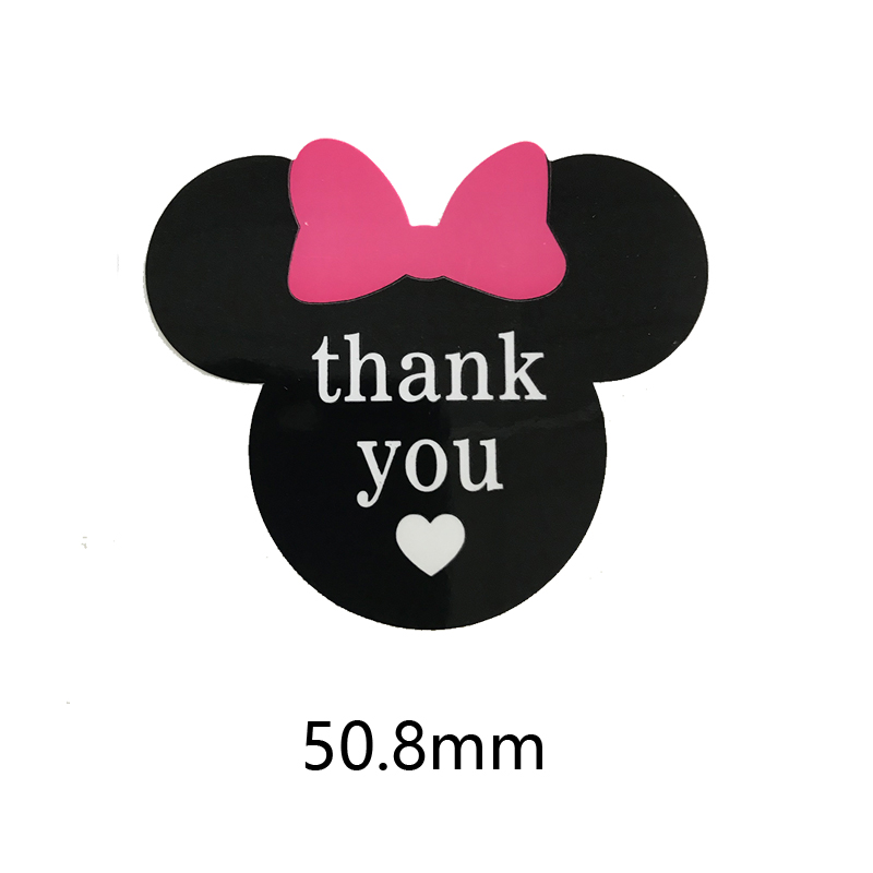 Mickey Mouse Sticker Vinyl Decals Chalkboard Labels Self adhesive Stationery Sticker Kids Custom DIY Thank YOU Decoration in Stationery Stickers from Office School Supplies