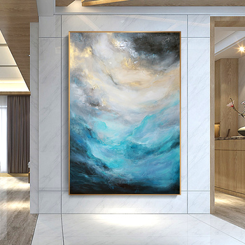 Modern Office Entrance Vertical Version Of A Substantial Gold Leaf Paintings Abstract Painting Decorative Painting The Living Ro
