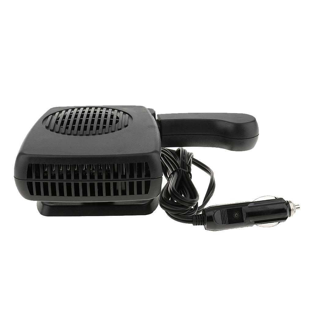 Car Heater Defroster, Portable Car Vehicle Heating Fan Defroster Demister, Quickly Heats (12V 200W Black)
