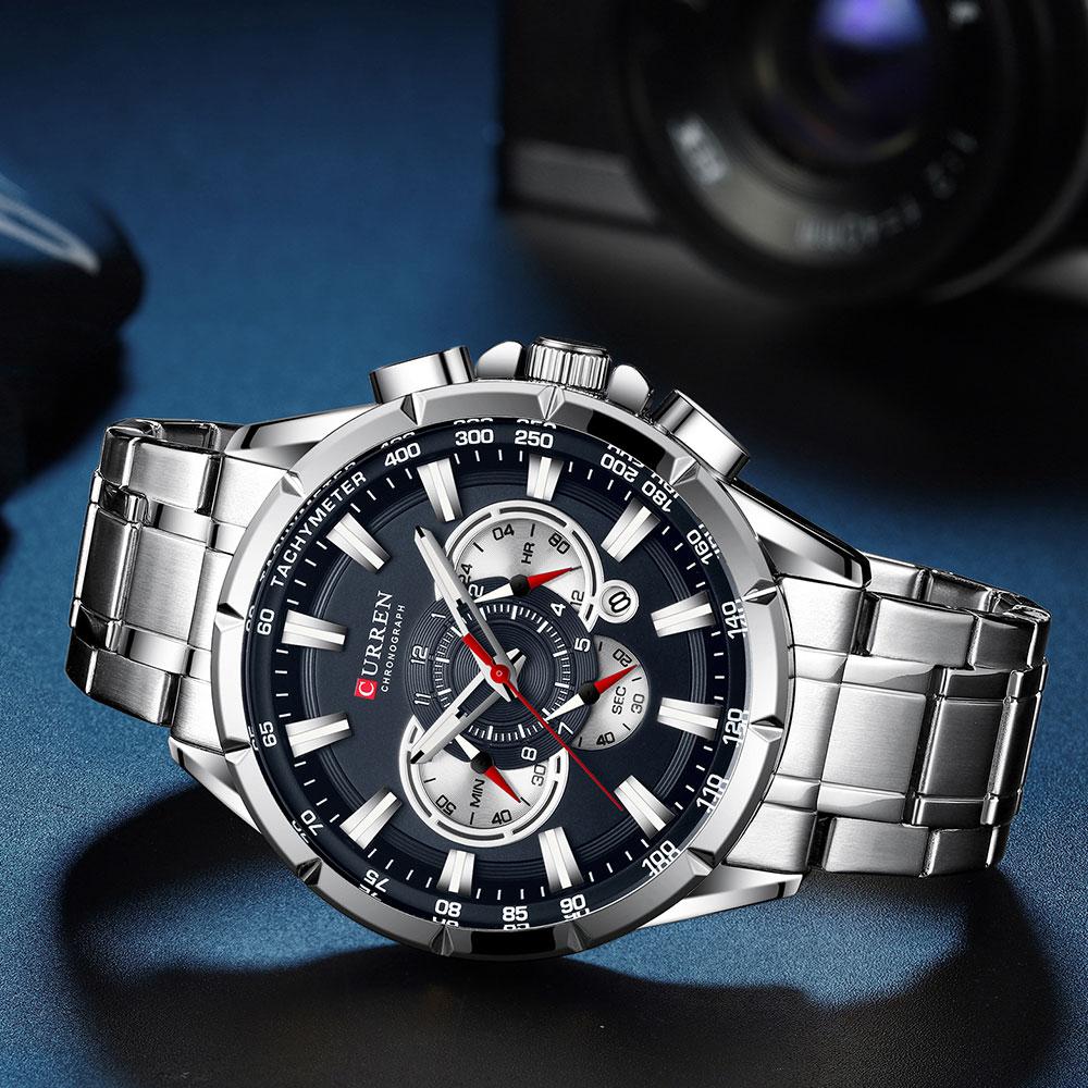 Hff77060594284028a29e64d14112f913p CURREN New Causal Sport Chronograph Men's Watch