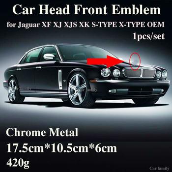 Znaczek na samochód 1 sztuk dla Jaguar XF XJ XJS XK S-TYPE X-TYPE OEM Car Styling przednia maska głowy odznaka obejmuje oryginalny projekt Accessorie tanie i dobre opinie FRONT 17 5cm rear boot emblem 420G for Jaguar XF XJ XJS XK S-TYPE X-TYPE OEM 10 5cm front head emblem covers For jaguar car head front hood rear trunk emblem