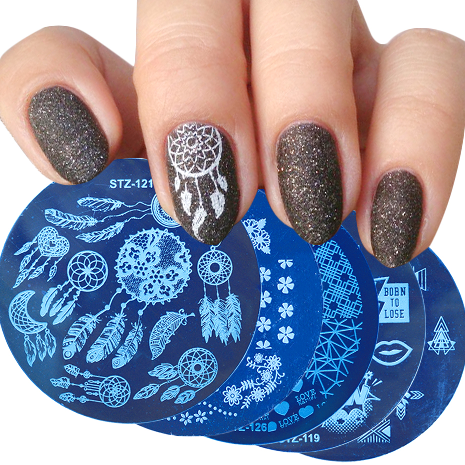 1pc Nail Stamping Plates Dream Catcher Flowers Love Stencil For Nails Templates Design Nail Art Stamp Accessories LASTZ101-130