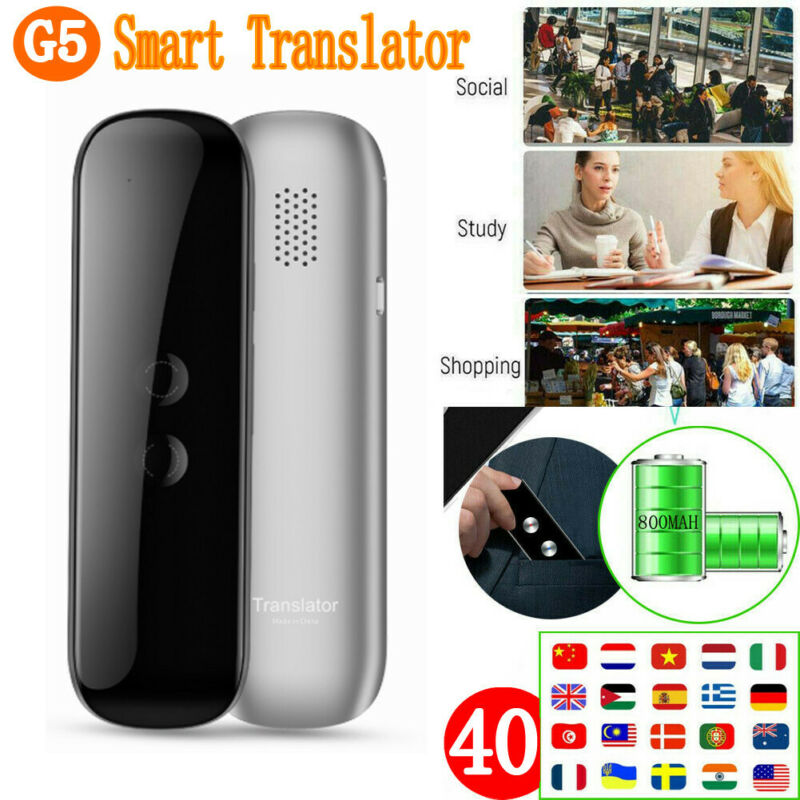 Portable Translaty MUAMA Enence Smart Instant Real Time Voice 40+Languages Translator G5 Universal