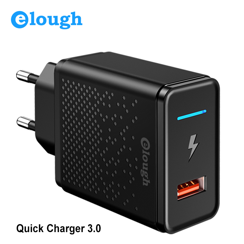 Elough 18W Quick Charge 3.0 4.0 USB Charger for Samsung Xiaomi Huawei iPhone EU Fast Mobile Phone Charger Power Adapter-in Mobile Phone Chargers from Cellphones & Telecommunications