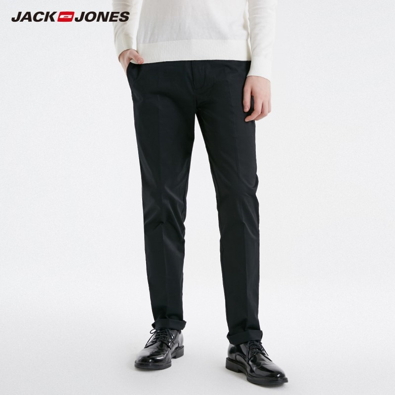 JackJones Men's Stretch Business Casual Pants Slim Fit Menswear Basic 219114512