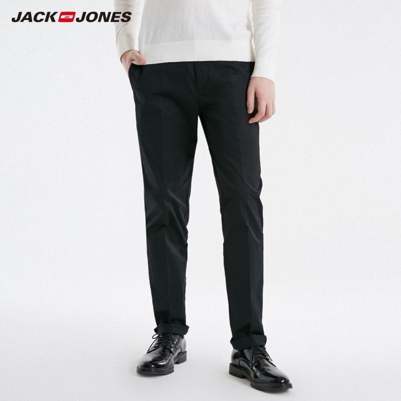 JackJones Men's Stretch Business Casual Pants Slim Fit Menswear Basic 219114512