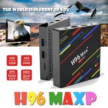 H96 MAX + Android 8.1 TV BOX 4 GB 32 GB RK3328 Quad Core USB3.0 H.265  1080 Wifi 5 GHz BT4.0 Youtube Set Top Box media iptv box цена