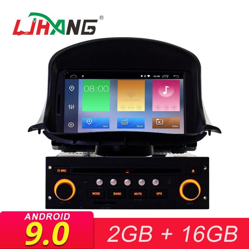LJHANG Car DVD Multimedia Player <font><b>Android</b></font> 9.0 for <font><b>Peugeot</b></font> <font><b>206</b></font> 206cc GPS Navigation 1 Din Car Radio Stereo headunit RDS Auto audio image