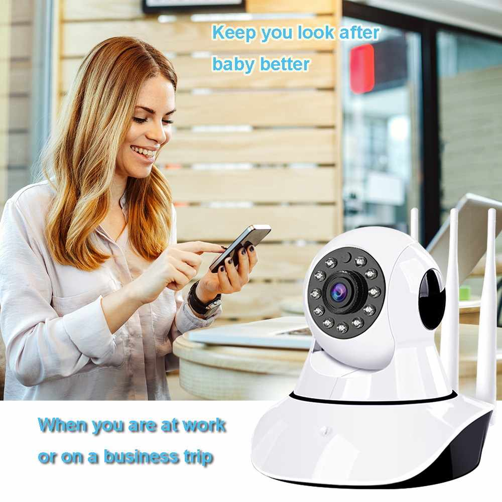 IP Kamera Wifi 1080P Nirkabel Sinyal Enhancement Kamera Keamanan Pelacakan Otomatis Malam Visi Smart Kamera CCTV Monitor Bayi
