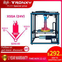 2019 Newest Tronxy DIY Assembled X5SA Aluminium Extrusion 3D Printer kit printing with Touch screen and Auto leveling