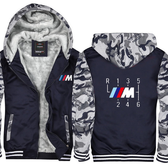 2019 New Men Winter Thicken Motorcycle Jackets male for <font><b>bmw</b></font> Sweatshirts Outdoor Riding hoodies zipper Coat image
