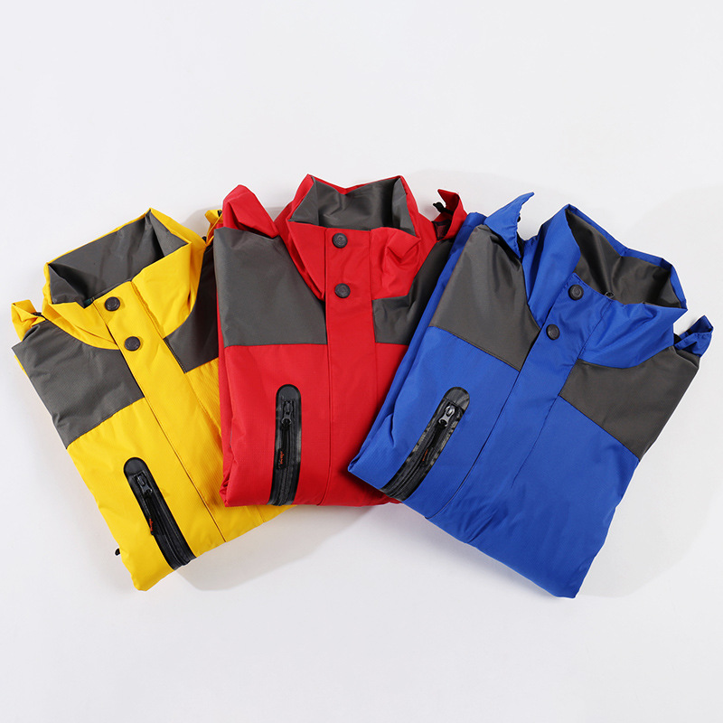 Autumn And Winter New Style Plus-sized Men's Plus Velvet Thick Single Layer Raincoat Jacket Outdoor Sports Warm Mountaineering