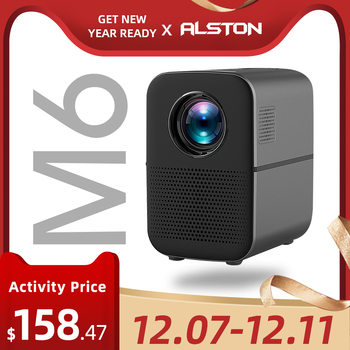 ALSTON M6 Full HD Led Projector 4000 Lumens Bluetooth Speaker home theater HDMI USB 1080p Portable Cinema Proyector Beamer 1