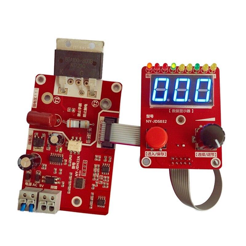 Präzision Doppel Puls Encoder Spot Schweißer Transformator Controller Strom Zeit Control Board NY D02 auf title=