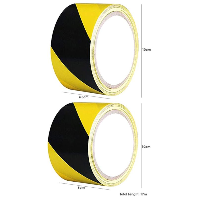 Factory 1 Roll Soft PVC Caution Mark Tapes Black Yellow Hazard Conspicuity Warning Warn Stickersc Tapes