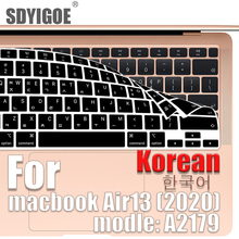 Laptop-Keyboard-Cover Korean Macbook Silicone Protective-Film New for Air13 A2179 13inch-Form