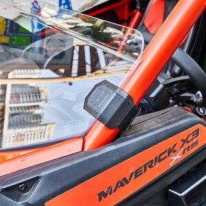 "Image 4 - KEMIMOTO UTV Half 1/2 49.2"" Front Windshield Windscreen for Can Am Maverick X3 XRS XDS Turbo R MAX 2017 2021"