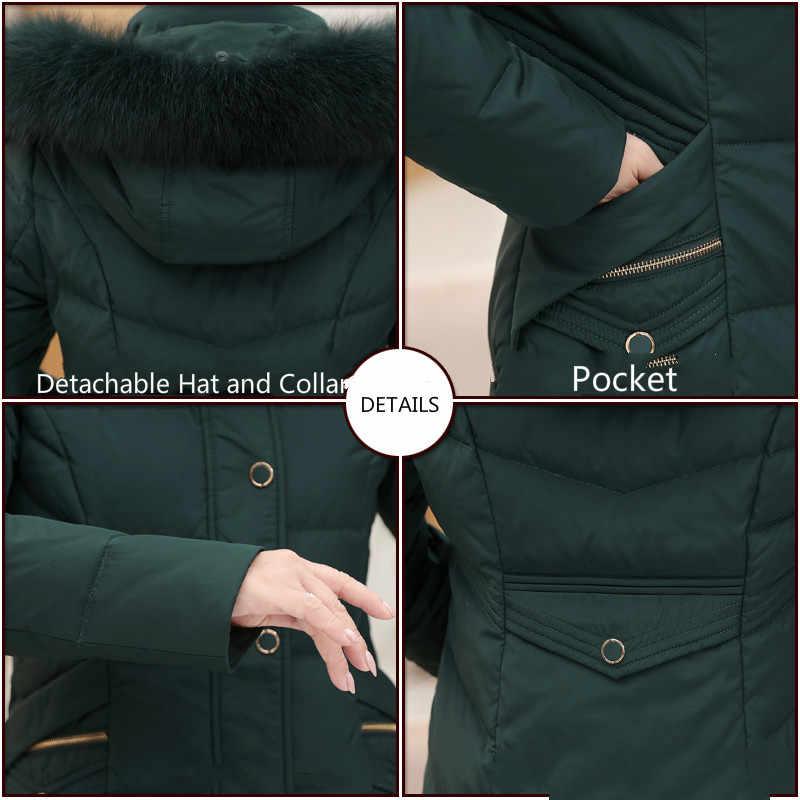Women's Down Jacket Winter Coat Women Middle-aged Elderly Plus Size 6xl Down Jackets Parka with Hat Chaqueta Mujer KJ700