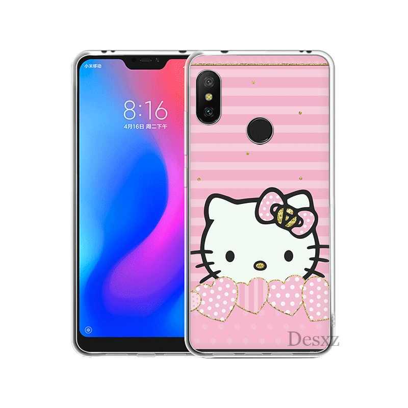 Mobile étui de téléphone pour xiaomi Redmi Note 4 4X3 5 6 7 Pro 5A Couverture Rigide beau Hello Kitty
