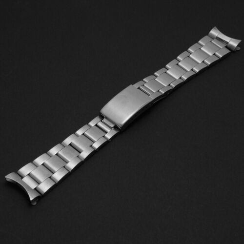 20mm Brush Solid Stainless Steel Oyster Dive Watch Bracelet Band Strap